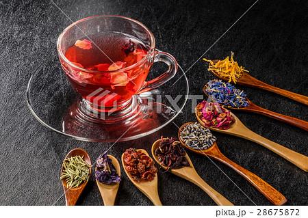 きれいになるハーブティー Colorful blend herb tea 28675872
