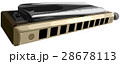 Vector illustration of chromatic harmonica. 28678113