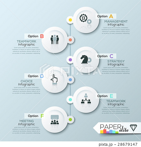 business timeline infographic templateのイラスト素材 28679147 pixta