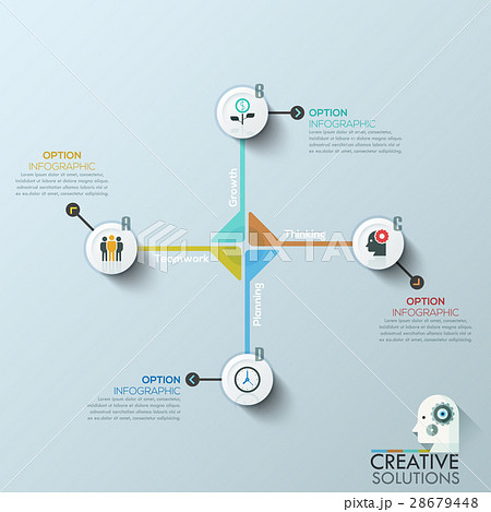 Modern business circle origami style optionsのイラスト素材 [28679448] - PIXTA