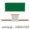 黒板 学校 教室のイラスト 28681595