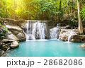 Waterfall deep forest scenic natural 28682086