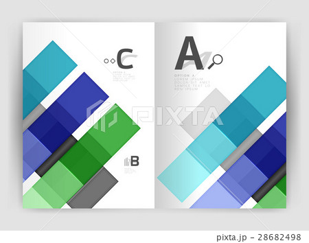 Set of front and back a4 size pages, businessのイラスト素材 [28682498] - PIXTA