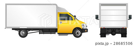 Yellow truck template. City commercial delivery 28685506
