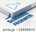 Science concept: book Flask, Scientific Research 28686643