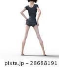 レッグケアイメージ 綺麗な女性の脚 perming3DCGイラスト素材 28688191