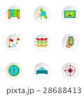 GPS アイコン ベクトルのイラスト 28688413