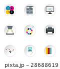 プリント アイコン イコンのイラスト 28688619