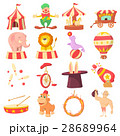 Circus icons set, cartoon style 28689964