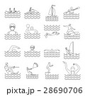 Water sport icons set, outline style 28690706