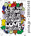 Vector illustration of doodle , happy birthday 28691448