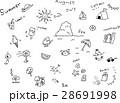 夏 手書き アイコンのイラスト 28691998