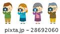 カメラ 家族 撮影のイラスト 28692060