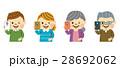 スマートフォン スマホ 家族のイラスト 28692062