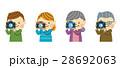 カメラ 家族 撮影のイラスト 28692063