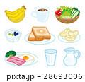 朝食 洋食 食べ物のイラスト 28693006