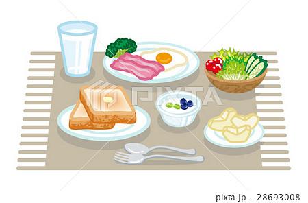 朝食セット 配膳 洋食 ランチョンマット 28693008