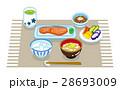 和食 朝食 セットのイラスト 28693009