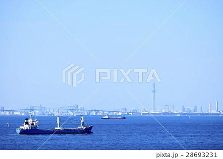 東京湾の青空と海 背景 28693231