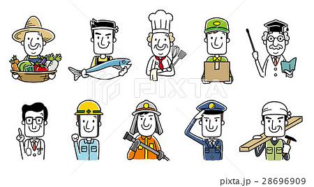 働く人々、職業:セット、バリエーション 28696909