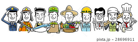 働く人々、職業:集合 28696911