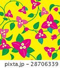 ブーゲンビリア パターン 黄色 28706339