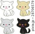 ペルシャ猫 猫 お座りのイラスト 28706579