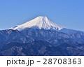 富士山 冬 山の写真 28708363