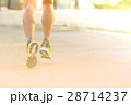 Close up of running man for excercise on the road. 28714237