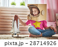 子供 少女 宇宙飛行士の写真 28714926