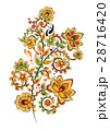 Floral ornament in Hohloma style. Russian folklore 28716420