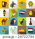 Egypt travel items icons set, flat style 28722794