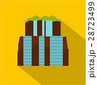 Iguassu Falls icon, flat style 28723499