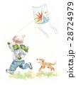 凧揚げ 白バック ペットのイラスト 28724979