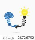 脳 ブレインストーム 電球のイラスト 28726752