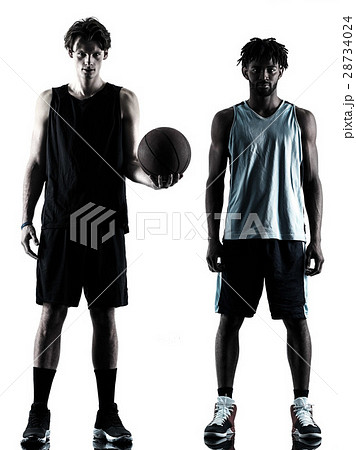 basketball players men  isolated silhouette shadow 28734024