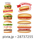 Set beautiful realistic icons of fast food 28737255