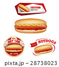 Set beautiful realistic icons of fast food 28738023