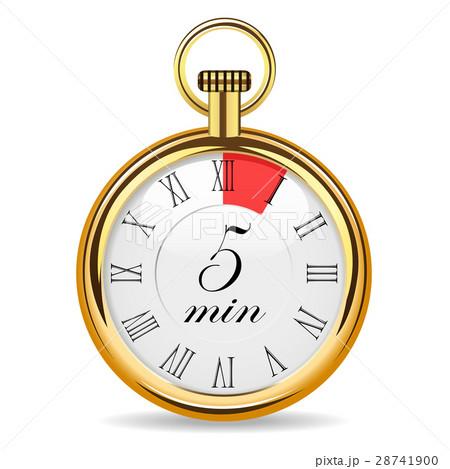mechanical watch timer 5 minutesのイラスト素材 28741900 pixta