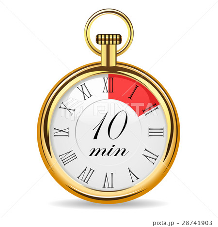 mechanical watch timer 10 minutesのイラスト素材 28741903 pixta