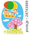 桜 気球 乗り物のイラスト 28743889