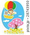 桜 気球 乗り物のイラスト 28743950