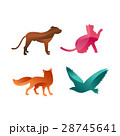 Wild animals jungle pets logo silhouette of 28745641