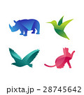 Wild animals jungle pets logo silhouette of 28745642