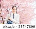 高校生と桜 28747899