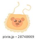 Orange baby bib icon, cartoon style 28748669