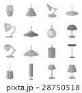 Lamp icons set, monochrome style 28750518