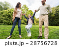 happy family walking in summer park and having fun 28756728