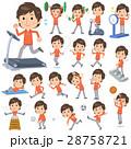 男性 運動 トレーニングのイラスト 28758721