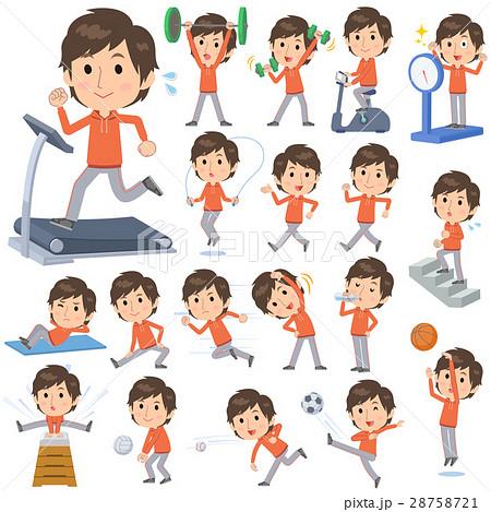 orange wear man Sports & exercise 28758721